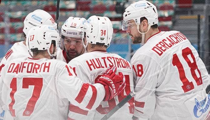 """Daugaviņš papildlaikā nokārto """"Vityaz"""" uzvaru un sasniedz jaunu KHL rezultativitātes rekordu"""