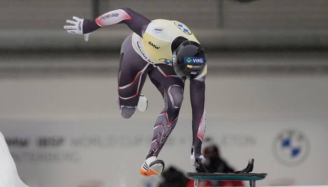 Martins Dukurs Sanktmoricas dabīgajā trasē PK sestajā posmā izcīna otro vietu
