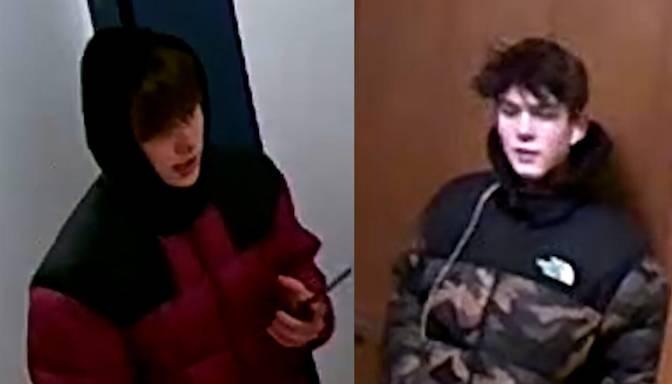 Vai atpazīsti? Divi jaunieši tiek meklēti saistībā ar ielaušanos Vecrīgas dzīvoklī