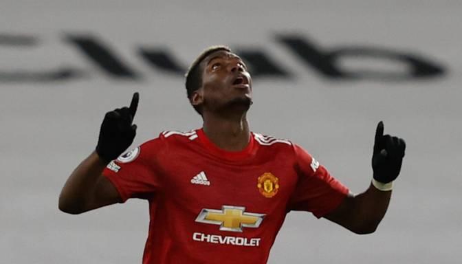 """Pogbā superšāviens ļauj """"Manchester United"""" uzvarēt """"Fulham"""" un atgriezties Premjerlīgas līderpozīcijā"""