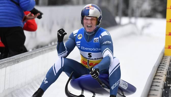 Pasaules čempionātā kamaniņu sportā Bērziņš ieņem 17.vietu, titulu izcīna Repilovs
