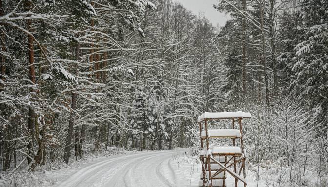 Ogres novadā sniega dziļums pieaudzis līdz pusmetram
