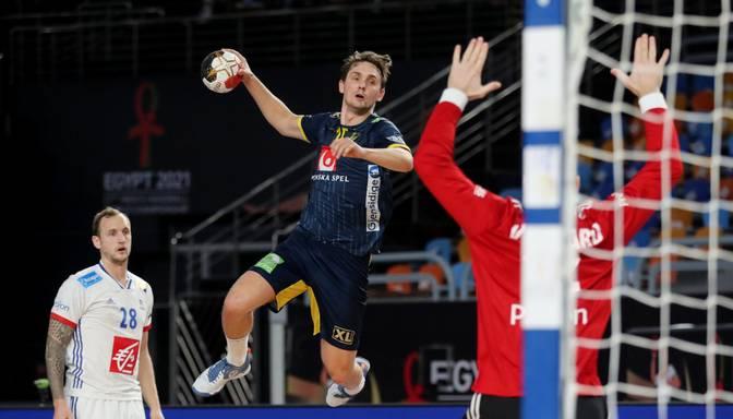 Pasaules čempionāta finālā iekļūst Zviedrijas un Dānijas handbolisti