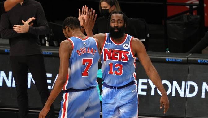 "Hārdenam ""Nets"" debijā ""triple-double"" un uzvara pār ""Magic"""