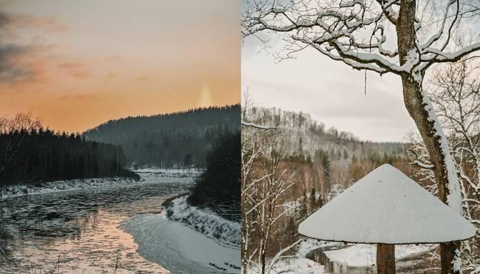 Pasakaini kadri! Ziemas spelgonis Siguldā paver burvīgus skatus