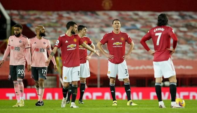 """Sensācija Premjerlīgā – vicelīderi """"Manchester United"""" zaudē pārliecinošajai pastarītei """"Sheffield United"""""""