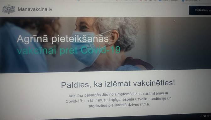 Vietnes www.manavakcina.lv darbība ir atjaunota