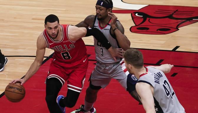 """Bertāns pirmo reizi iet starta pieciniekā un palīdz """"Wizards"""" apspēlēt """"Bulls"""""""