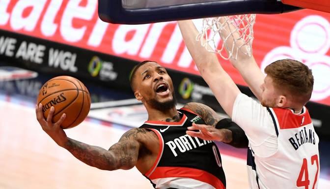 """Bertāna """"Wizards"""" rezultatīvā spēlē piekāpjas Portlendas """"Trail Blazers"""""""