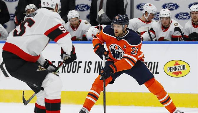 """Fenomenālais """"Oilers"""" vācietis Draizaitls atdod sešas rezultatīvas piespēles"""