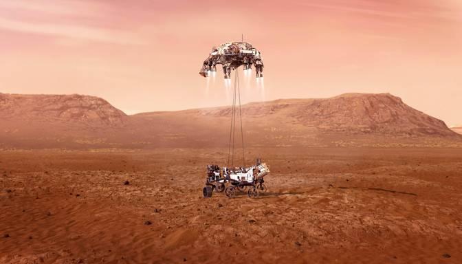 """Uz Marsa veiksmīgi nolaidies NASA robots """"Neatlaidība"""""""