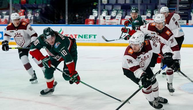 """KHL grandi Kazaņas """"Ak Bars"""" centīsies revanšēties Rīgas """"Dinamo"""" par zaudējumu savā laukumā"""
