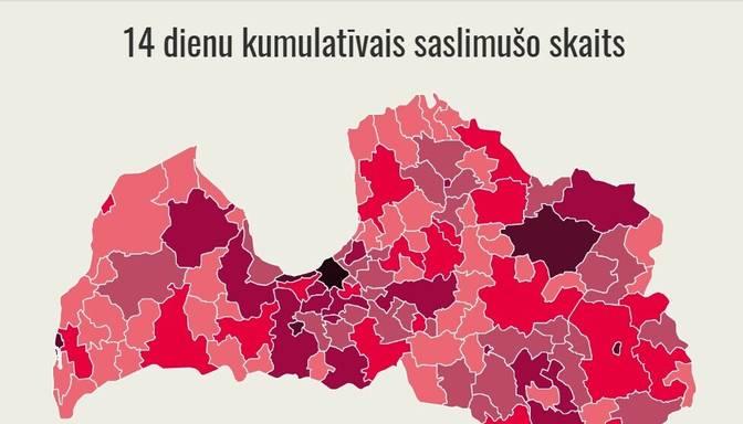 Latvija pilnībā iekļauta Eiropas Slimību un profilakses centra jaunās brīdinājuma kartes tumši sarkanajā zonā