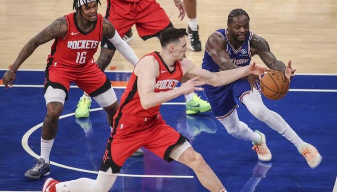 """Kuruca """"Rockets"""" izbraukumā zaudē Ņujorkas """"Knicks"""""""