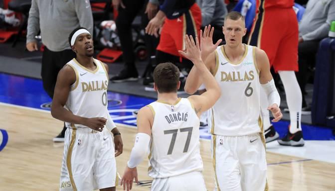 """Porziņģim un Dončičam fantastisks sniegums """"Mavericks"""" uzvarā pār Ņūorleānas """"Pelicans"""""""