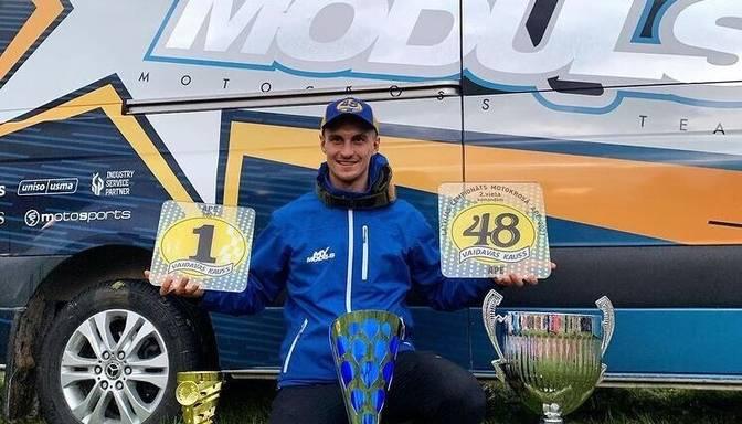 Sabulis kļūst par Latvijas motokrosa čempionu MX1 klasē