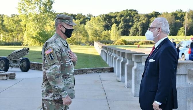 Valsts prezidents pateicas Mičiganas Nacionālajai gvardei par ieguldījumu NATO alianses drošības labā