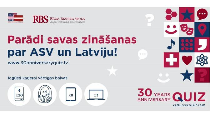 Parādi savas zināšanas par ASV un Latviju!