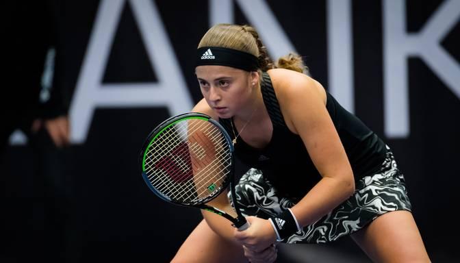 Ostapenko trīs setu cīņā sasniedz Luksemburgas WTA turnīra ceturtdaļfinālu