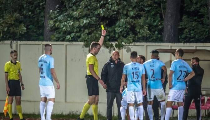 """""""Riga FC"""" vārtsargu trenerim Romanovam divu spēļu diskvalifikācija par asumiem kausa izcīņā"""