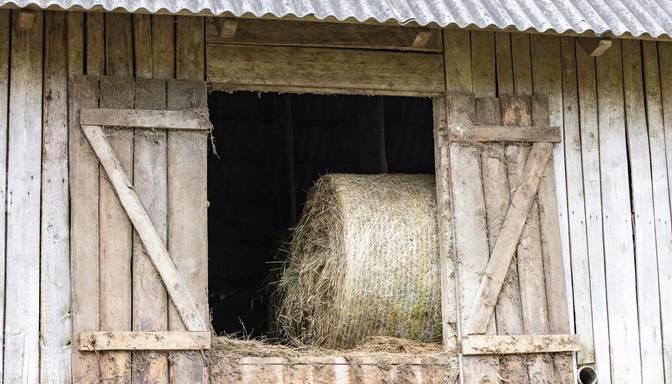 Augšdaugavas novadā aizdegusies saimniecības ēka ar 300 siena ruļļiem