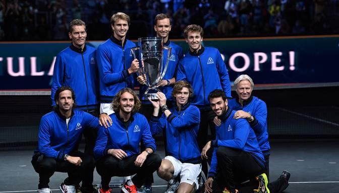 Eiropas tenisisti sagrauj pasaules izlasi un turpina būt perfekti Leivera kausā