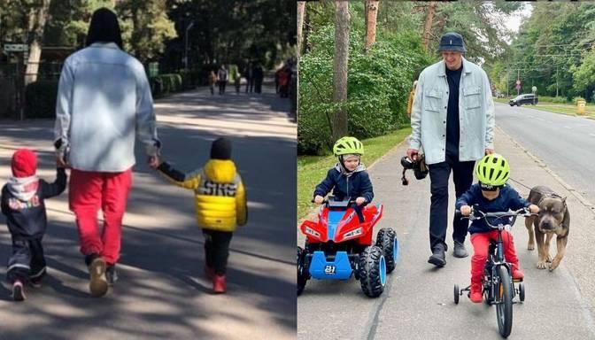 Jānis Timma pavada laiku dzimtenē kopā ar dēlu Kristianu un Sedokovas atvasi Gektoru