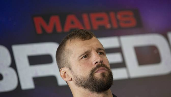 """Briedis: """"Man jāaizstāv savas čempiona jostas, lai pēc cīņas varētu pacelt Latvijas karogu"""""""