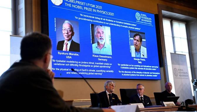 Nobela balva fizikā piešķirta zinātnieku trijotnei par klimata modelēšanas un sarežģītu fizikālo sistēmu pētījumiem