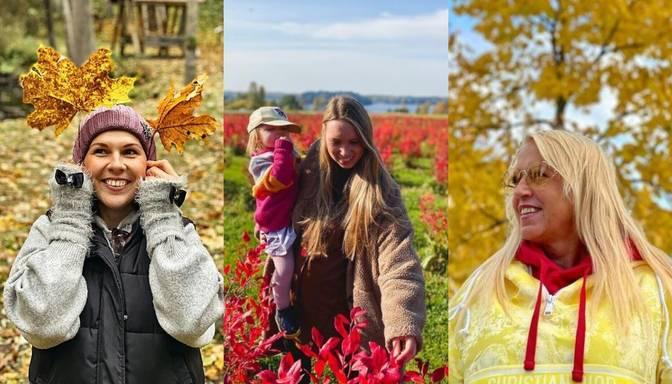 Foto: sabiedrībā zināmas personas bauda Latvijas zeltaino rudeni