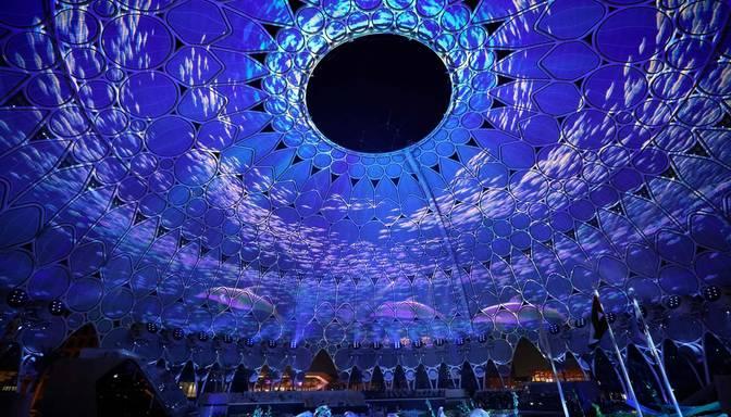 """Dubaijā aizritējusi ekstravagantā """"Expo 2020"""" atklāšanas ceremonija"""