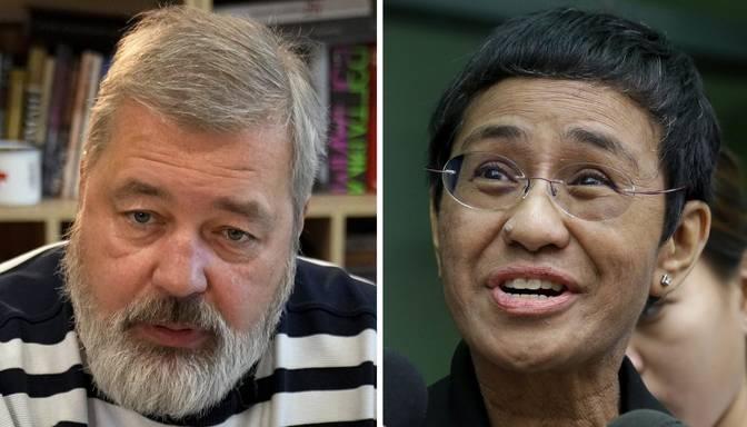 Nobela Miera prēmija piešķirta žurnālistiem Marijai Resai un Dmitrijam Muratovam