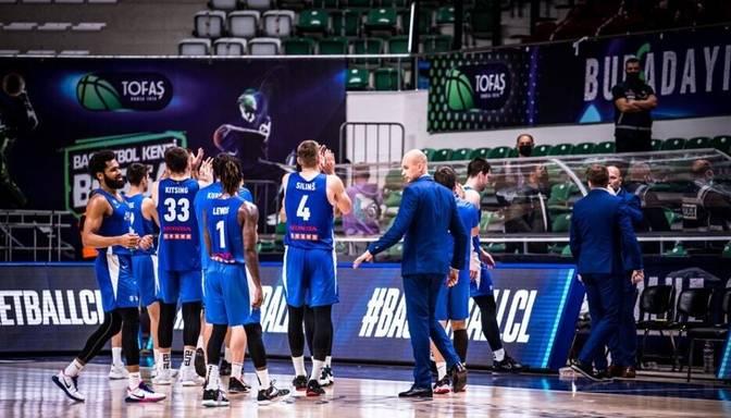 """Siliņš ar astoņiem punktiem kaldina """"Kalev""""/""""Cramo"""" uzvaru FIBA Čempionu līgas spēlē"""