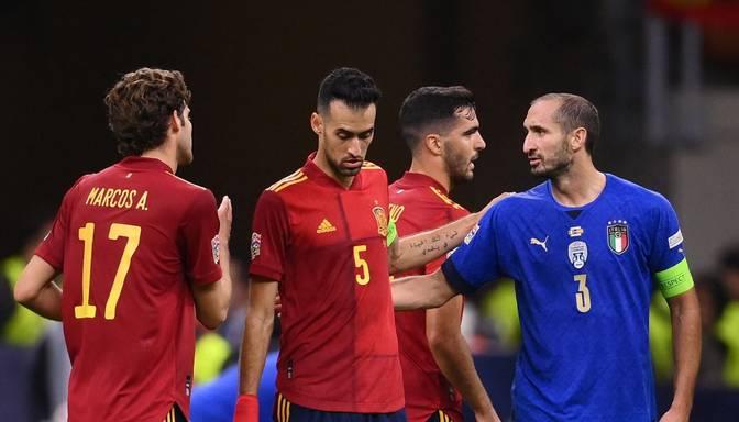 UEFA Nāciju līgas pusfinālā Spānija uzvar mazākumā palikušo Itāliju