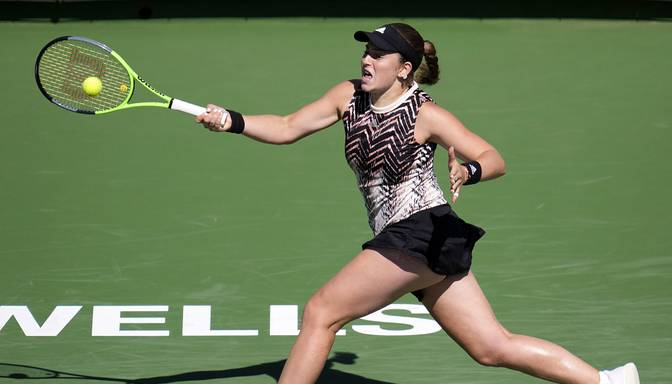 """Ostapenko sasniedz Indianvelsas """"WTA 1000"""" sērijas turnīra ceturtdaļfinālu"""