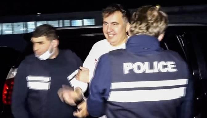 Saakašvili aizturēts pēc atgriešanās Gruzijā