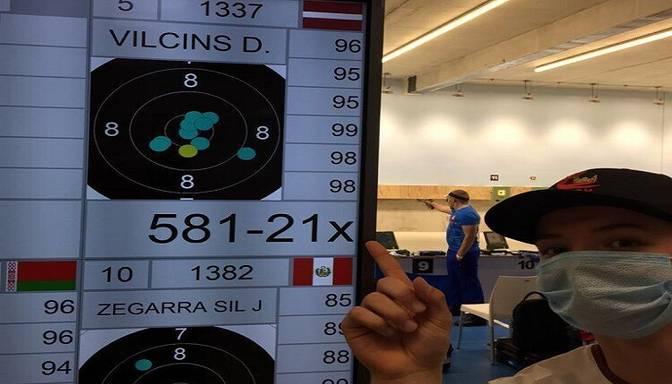 Vilciņš pasaules junioru čempionātā šaušanā ar pneimatisko pistoli izcīna piekto vietu